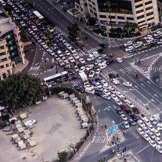 intersection traffic jam
